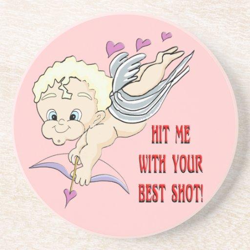 Cupid's Best Shot Valentines Coaster