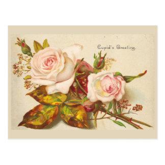 Cupid's Greeting Vintage Valentine Postcard