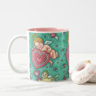 CUPID'S HEART AND KITTEN VALENTINE MUG Repeat