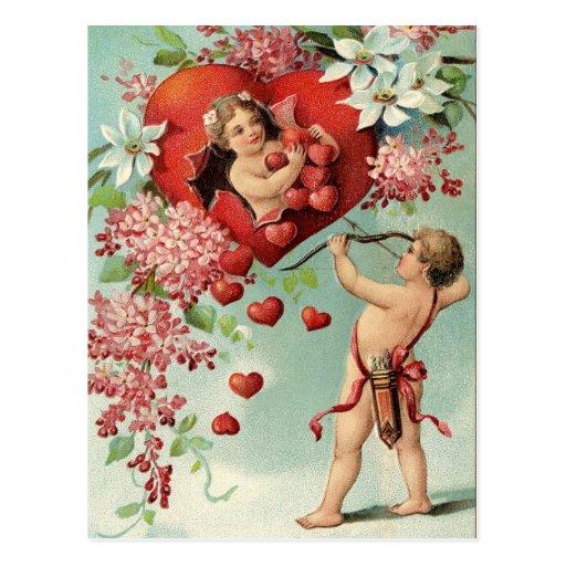 Cupid's Target Valentine Postcard