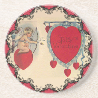 Cupids Valentine Message Coaster