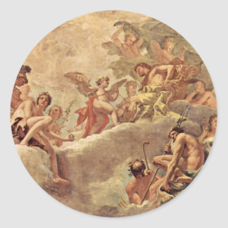 Cupidus Before Jupiter By Ricci Sebastiano Stickers