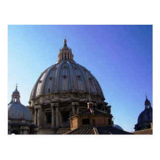 Cupola of St. Peters church - Postcard