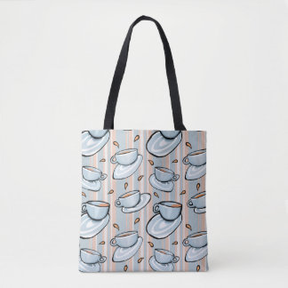 Cups Medley blue All-Over-Print Tote Bag