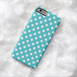 Curacao Blue Polka Dot iPhone 6 case Barely There iPhone 6 Case