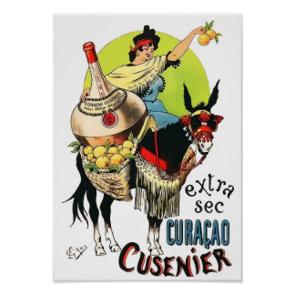 Curacao Cusenier 1899 Vintage Advertisement Poster