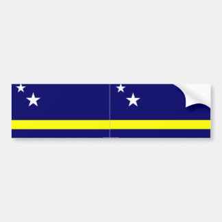 Curacao flag bumper sticker