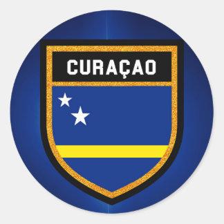 Curaçao Flag Classic Round Sticker
