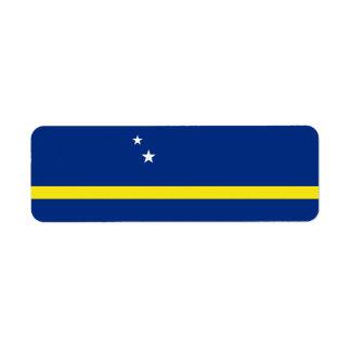 Curacao Flag Return Address Label