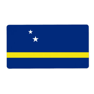 Curacao Flag Shipping Label