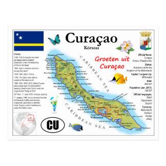 Curaçao Map Postcard