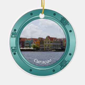 Curacao Porthole Ceramic Ornament