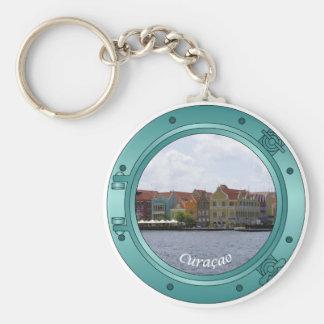 Curacao Porthole Key Ring