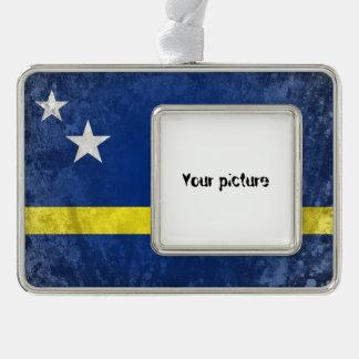 Curacao Silver Plated Framed Ornament