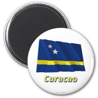 Curacao Waving Flag with Name Magnet