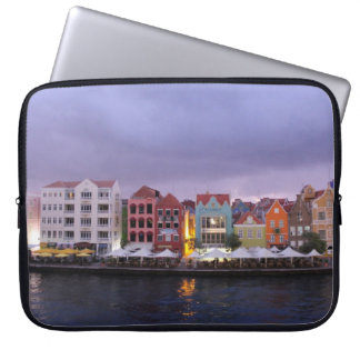 Curacao: Willemstad in purple Dusk Computer Sleeves