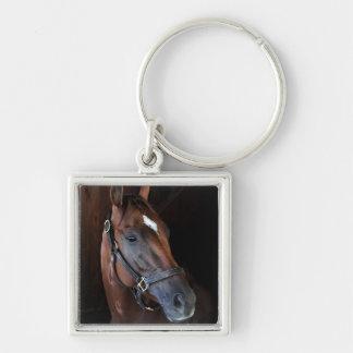 Curalina Silver-Colored Square Key Ring
