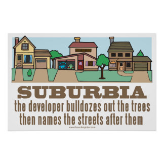 Curb Suburbia Tree Lover Posters