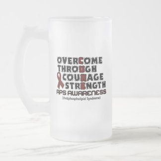 CURE...APS FROSTED GLASS BEER MUG
