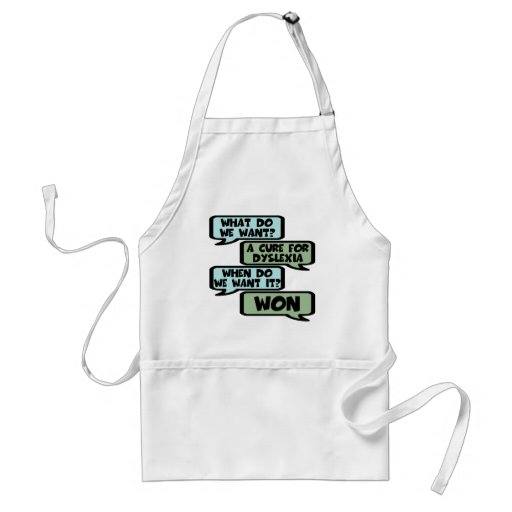 Cure for dyslexia aprons