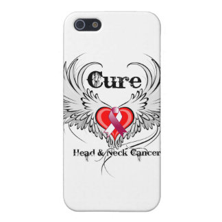 Cure Head Neck Cancer Heart Tattoo Wings Case For iPhone 5