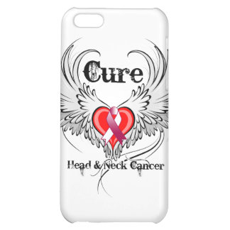 Cure Head Neck Cancer Heart Tattoo Wings Case For iPhone 5C