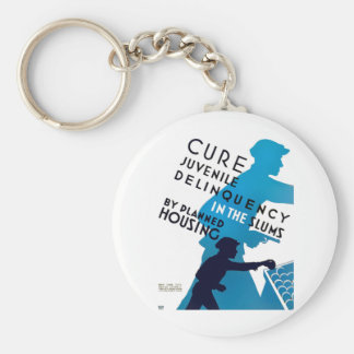 Cure Juvenile Delinquency in the Slums Key Chain