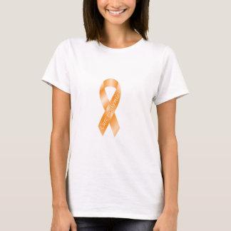 Cure Leukemia Orange Ribbon T-shirt