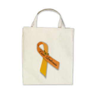 Cure Leukemia Organic Grocery Tote Canvas Bags
