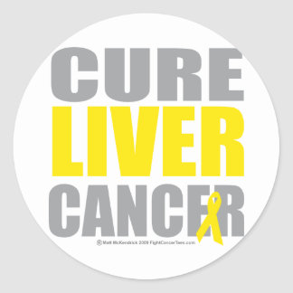 Cure Liver Cancer Classic Round Sticker
