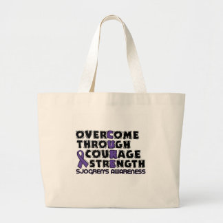 CURE...Sjogren's Large Tote Bag