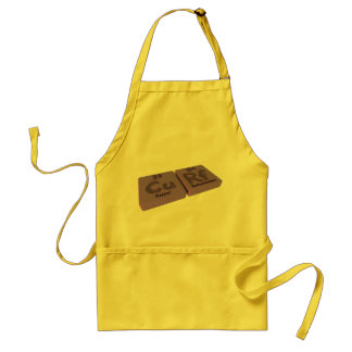 Curf as Cu Copper and Rf Rutherfordium Adult Apron