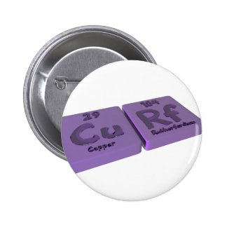Curf as Cu Copper and Rf Rutherfordium Pinback Button