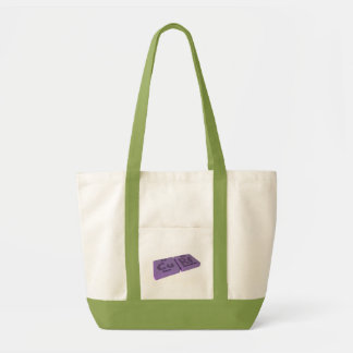Curf as Cu Copper and Rf Rutherfordium Canvas Bag