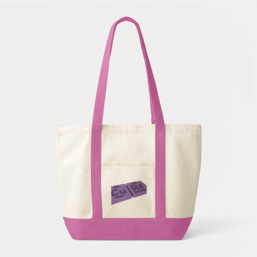 Curf as Cu Copper and Rf Rutherfordium Tote Bags