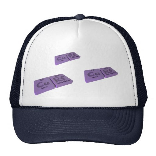 Curf as Cu Copper and Rf Rutherfordium Trucker Hat
