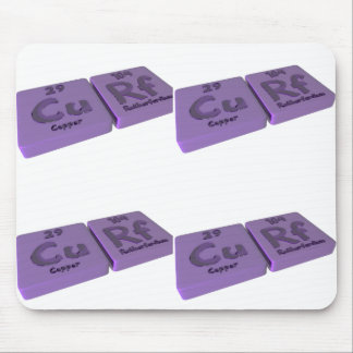 Curf as Cu Copper and Rf Rutherfordium Mouse Pad