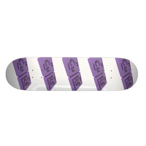 Curf as Cu Copper and Rf Rutherfordium Skate Boards