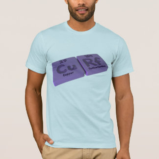Curf as Cu Copper and Rf Rutherfordium T-Shirt