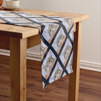 Curiosity Cat Short Table Runner