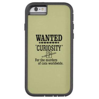 Curiosity Killed the Cat - Beige background color Tough Xtreme iPhone 6 Case