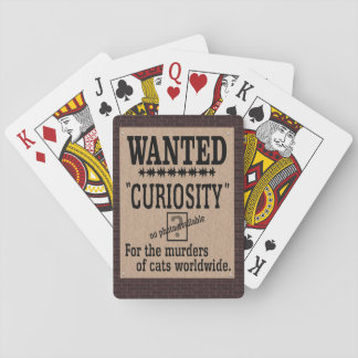 Curiosity Killed the Cat - Brick Background Poker Deck