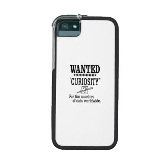 Curiosity Killed the Cat -Custom Background Color iPhone 5/5S Cover