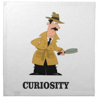 curiosity man napkin