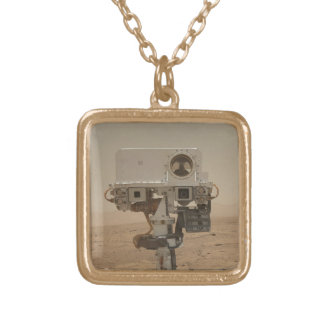 Curiosity on Mars Square Pendant Necklace