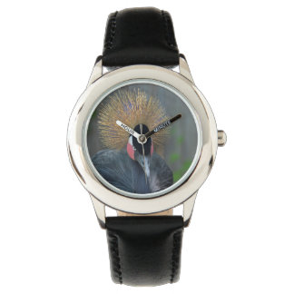 Curious African Crowned Crane Wrist Watches