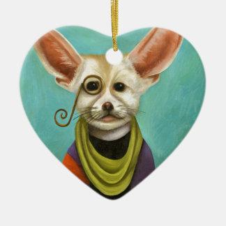 Curious As A Fox Ceramic Ornament
