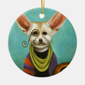 Curious As A Fox Ceramic Ornament