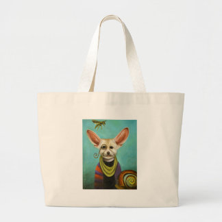 Curious As A Fox Large Tote Bag