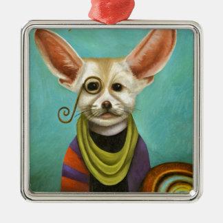 Curious As A Fox Metal Ornament